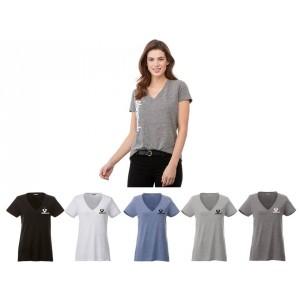 T-shirts col en V pour femmes