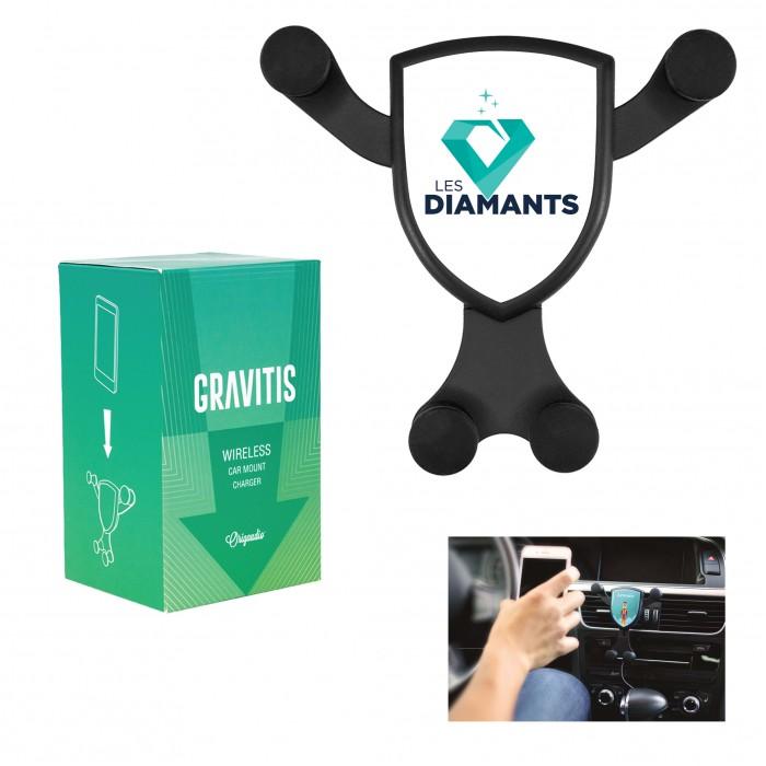 Chargeur sans fil pour voiture - Gravitis